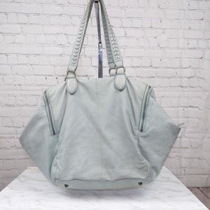 Liebeskind Berlin large mint color leather tote